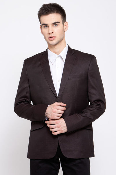 Wintage Men's Poly Blend Formal and Evening Blazer Coat Jacket : Coffee