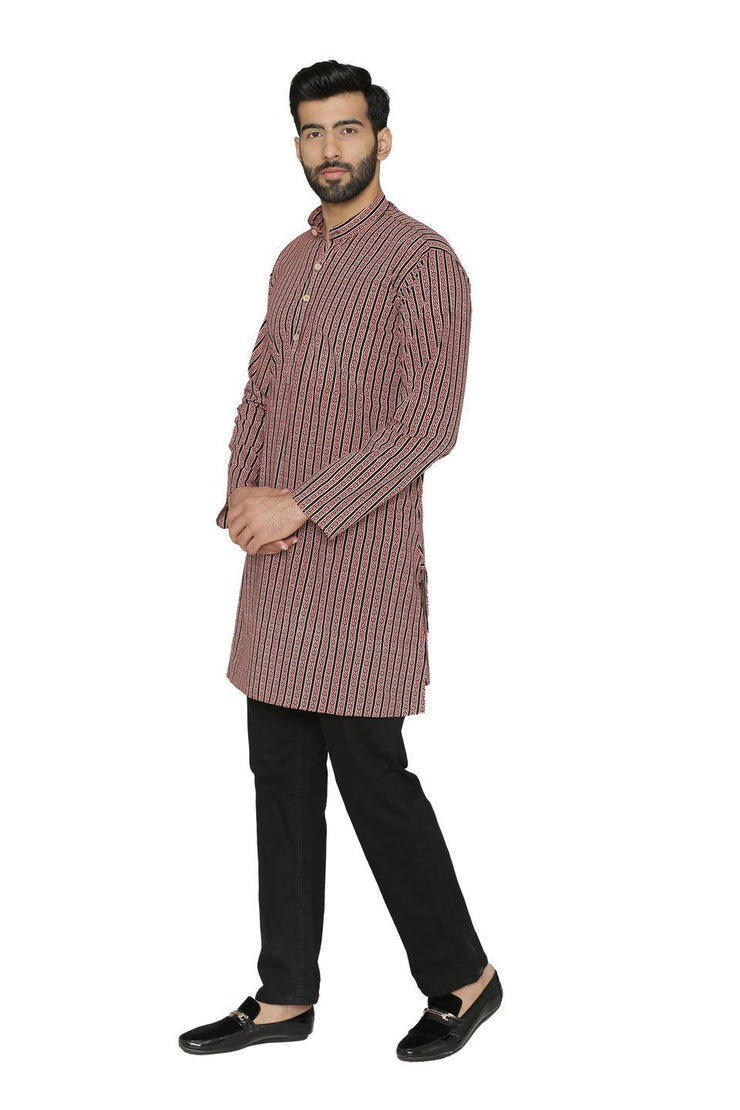 100% Jaipur Cotton Multicoloured Long Indian Kurta