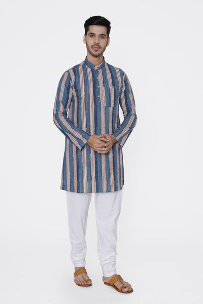 Jaipur 100% Cotton Light Blue Long Kurta Pajama