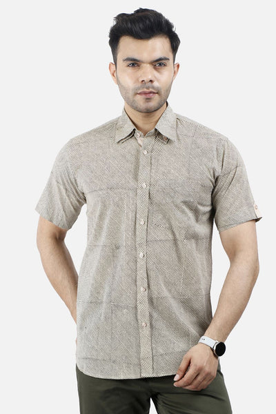 Jaipur 100% Camel Thin Stripe Shirt