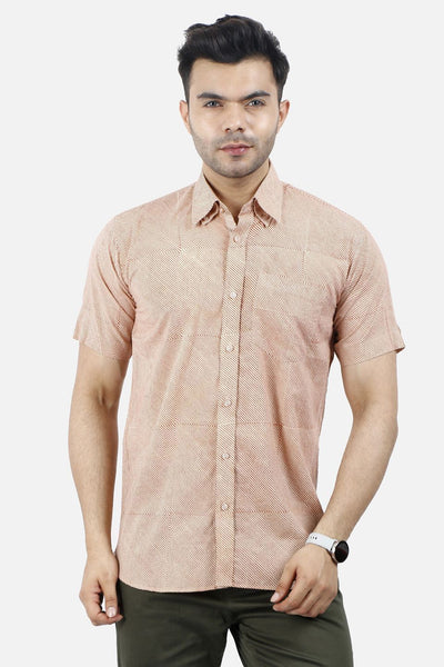 Jaipur 100% Orange Thin Stripe Shirt