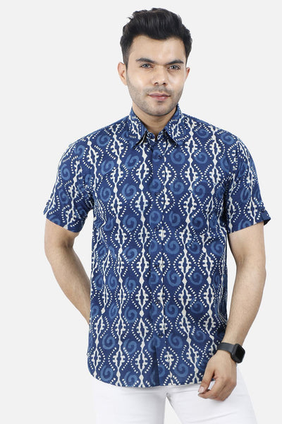 Jaipur 100% Cotton Indigo Shirt