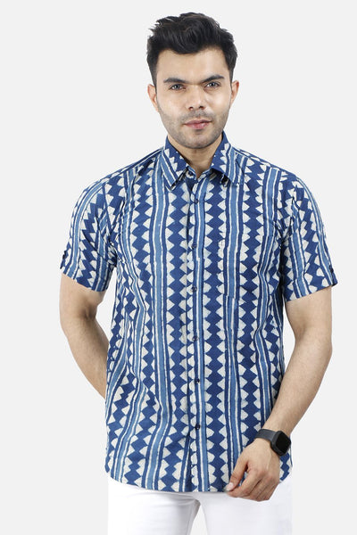 Jaipur 100% Cotton Blue Shirt