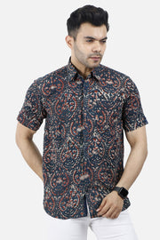 Jaipur 100% Cotton Multicolor Floral Shirt