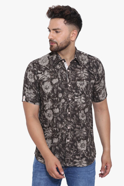 Jaipur 100% Cotton Black Floral Shirt