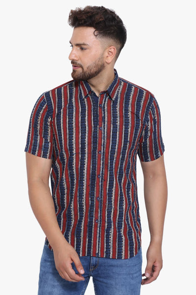 Jaipur 100% Cotton Multicolored Striped Shirt