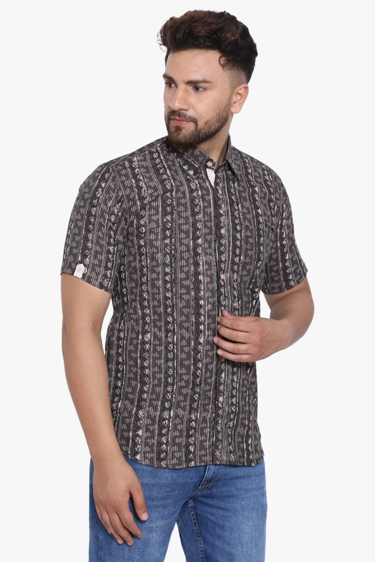 Jaipur 100% Cotton Black Design Shirt