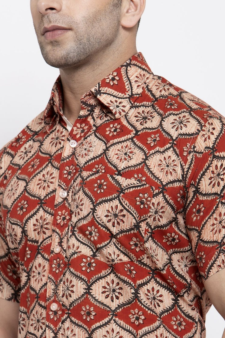 Jaipur 100% Cotton Red Floral Shirt