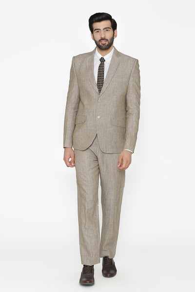 100% Pure Linen by Linen Club White Suit