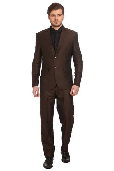 Poly Viscose Brown Suit
