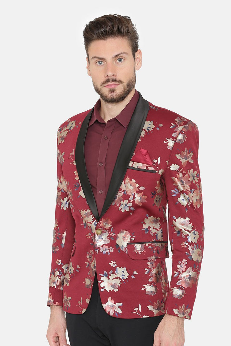 Digital Rayon Print MulticolouRed Tuxedo