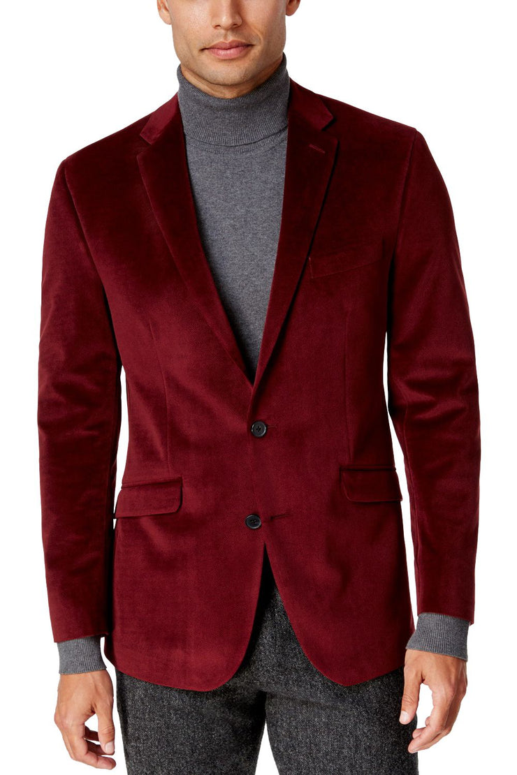 Cotton Velvet Red Blazers