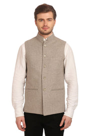 Tweed Grey Nehru Jacket