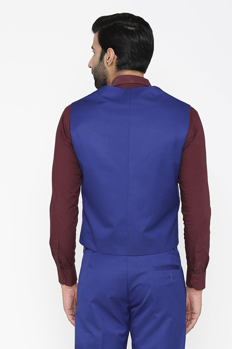 Polyester Cotton Blue Waist Coat