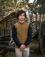 Tweed Wool Brown Modi Nehru Jacket