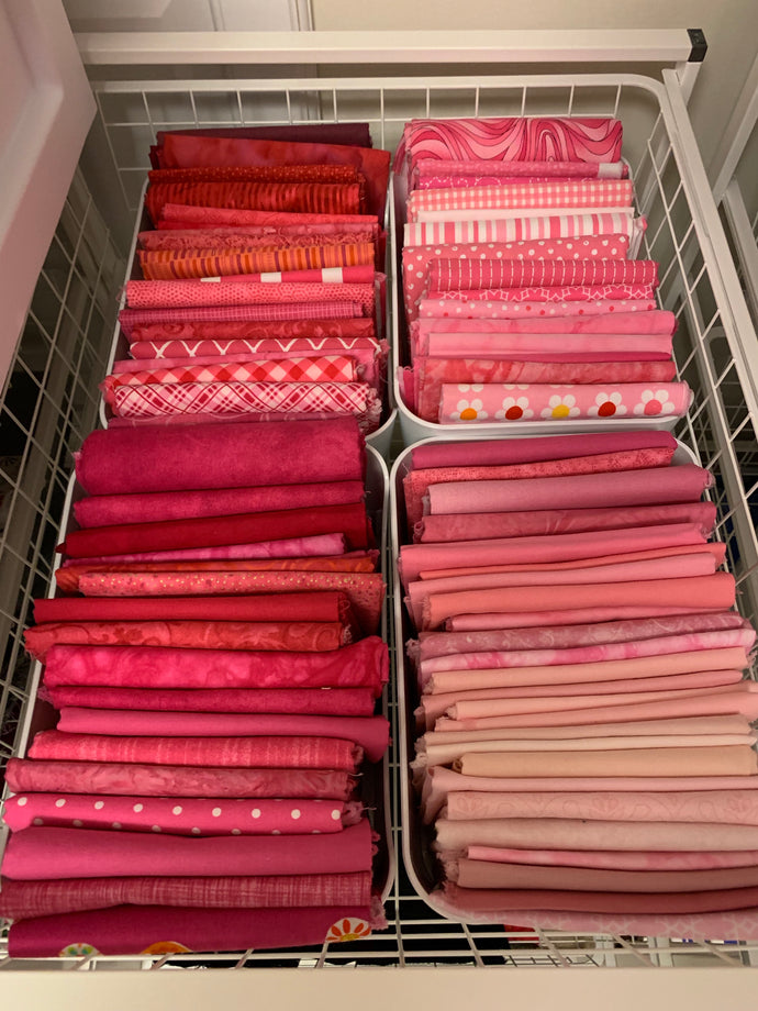 Results of my weekend/ 2 week fabric organization.
