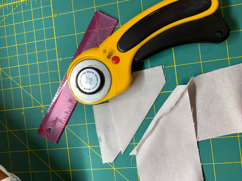 Cut open seam and iron open