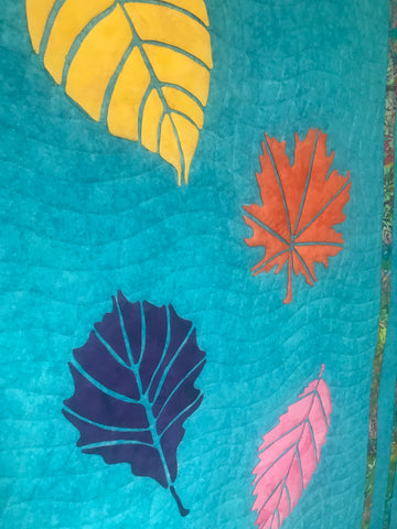 Close up of the Bright Leaf Quilt Pattern