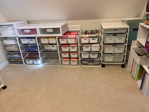 Fabic reorganization Ikea containers