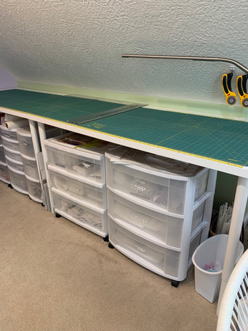 Cutting table for Sewforever Quilt Storage