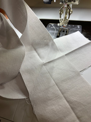 Stitching the binding together