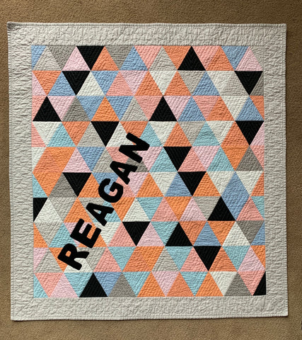 Reagan's quilt pieced and quilted with Aurifil 50/2