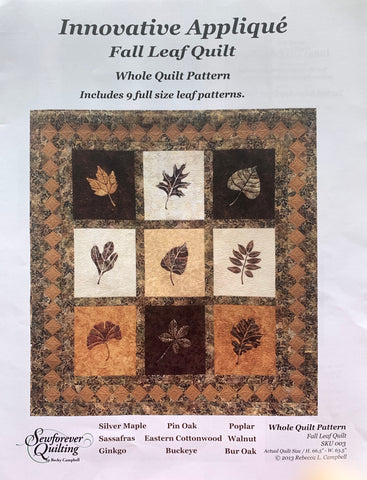 Fall Leaf Quilt Pattern