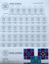 "English Paper Piecing Made Modern | Templates for 1"" Houses and 1"" Squares"