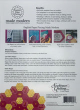 English Paper Piecing Made Modern Templates Hexagon 3/4""