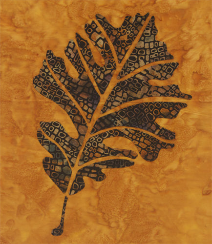 Innovative Appliqué Bur Oak Leaf