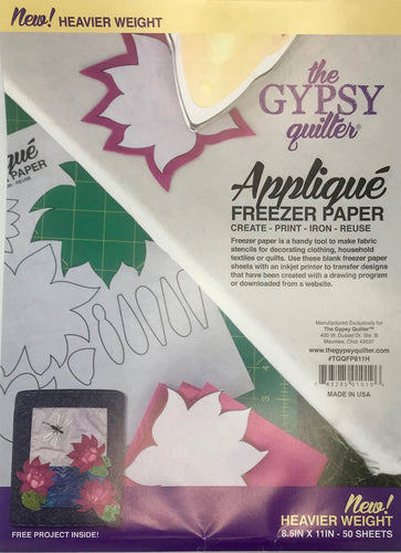 Appliqué Freezer Paper Sheets