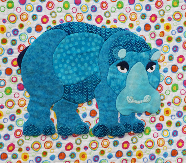 Innovative Appliqué Hippo