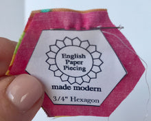 English Paper Piecing Made Modern Hexagons straight stitch my hand