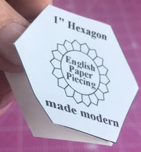 English Paper Piecing Made Modern Hexagons remove paper backing