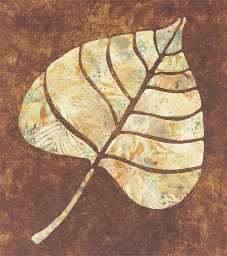 Innovative Appliqué Poplar Leaf