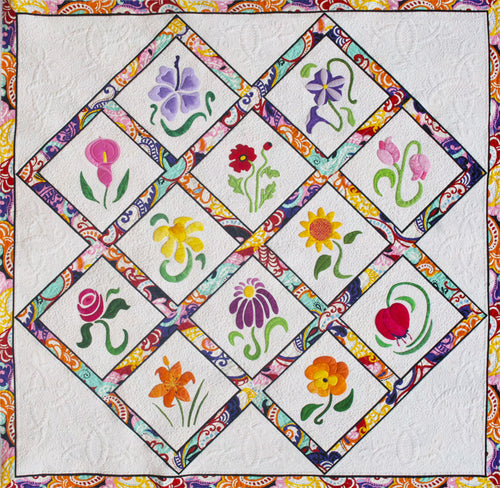 Innovative Appliqué Sew Simple Series Quilt Pattern 12 Flowers