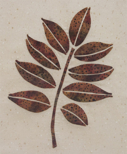 Innovative Appliqué Walnut Leaf