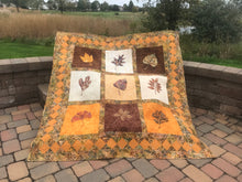 Fall Leaf Quilt Pattern Outdoor Shot