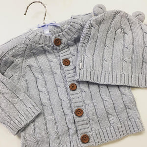 Cotton Cabled Sweater Blue