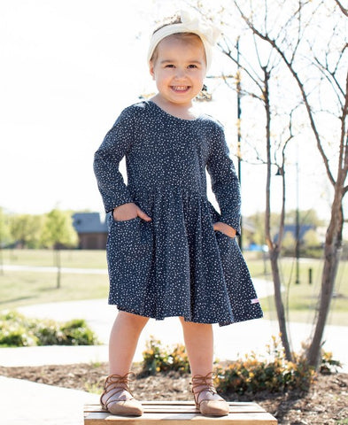 Twirly Dress in Navy