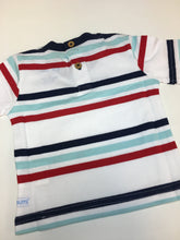 Load image into Gallery viewer, Red Navy Striped Tee Shirt
