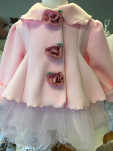 Rose Fleece Coat for Baby
