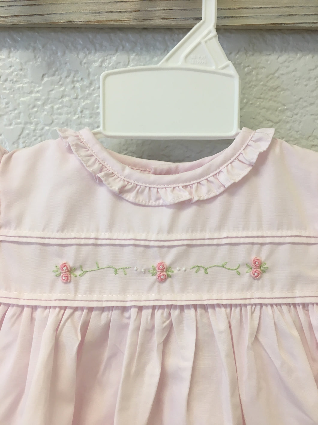 Embroidered Rose Dress