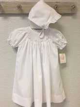 Load image into Gallery viewer, White Smocked Daygown