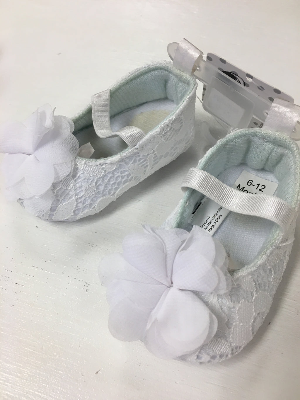 White Lace Crib Shoes