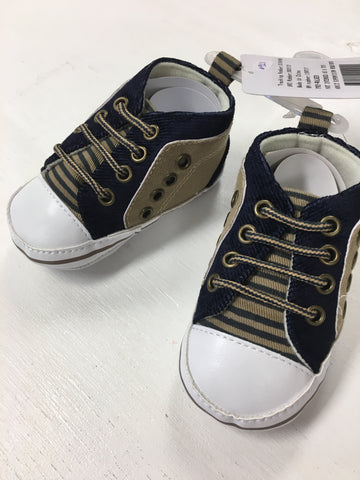Navy Crib Shoes