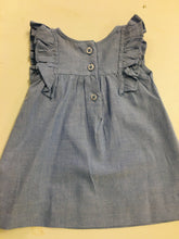Load image into Gallery viewer, Blue Chambray Jumper Dress