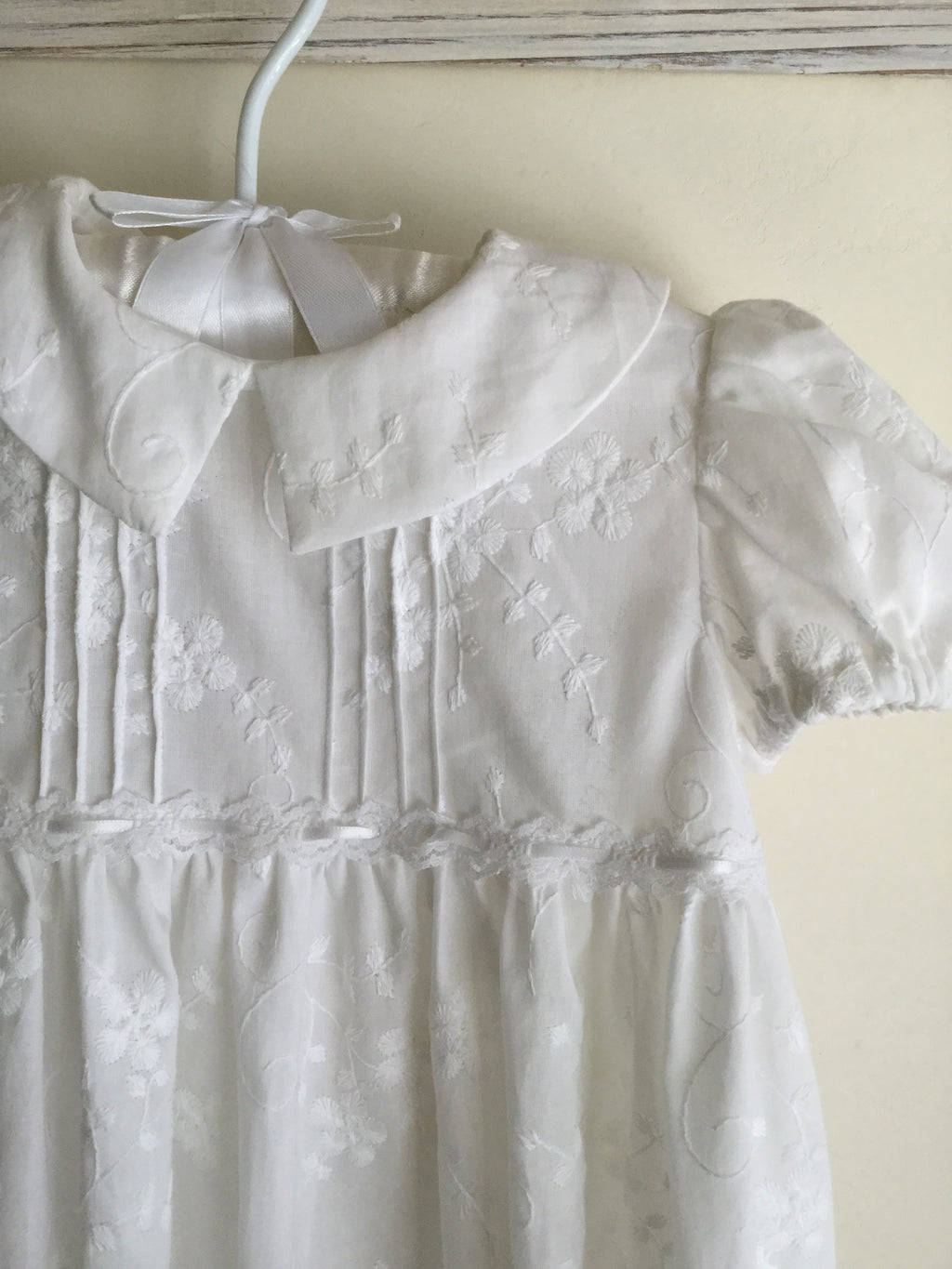 Embroidered Christening Gown with Bonnet