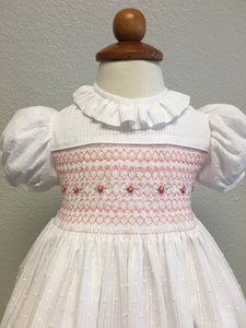 White Lawn Smocked Baby Dress