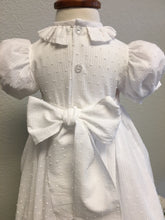 Load image into Gallery viewer, White Lawn Smocked Baby Dress